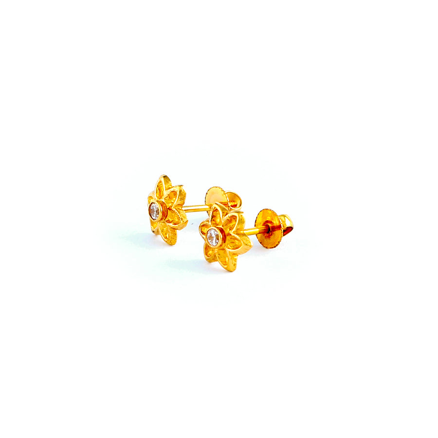 22KT YELLOW GOLD EAR STUD (ES0001165)