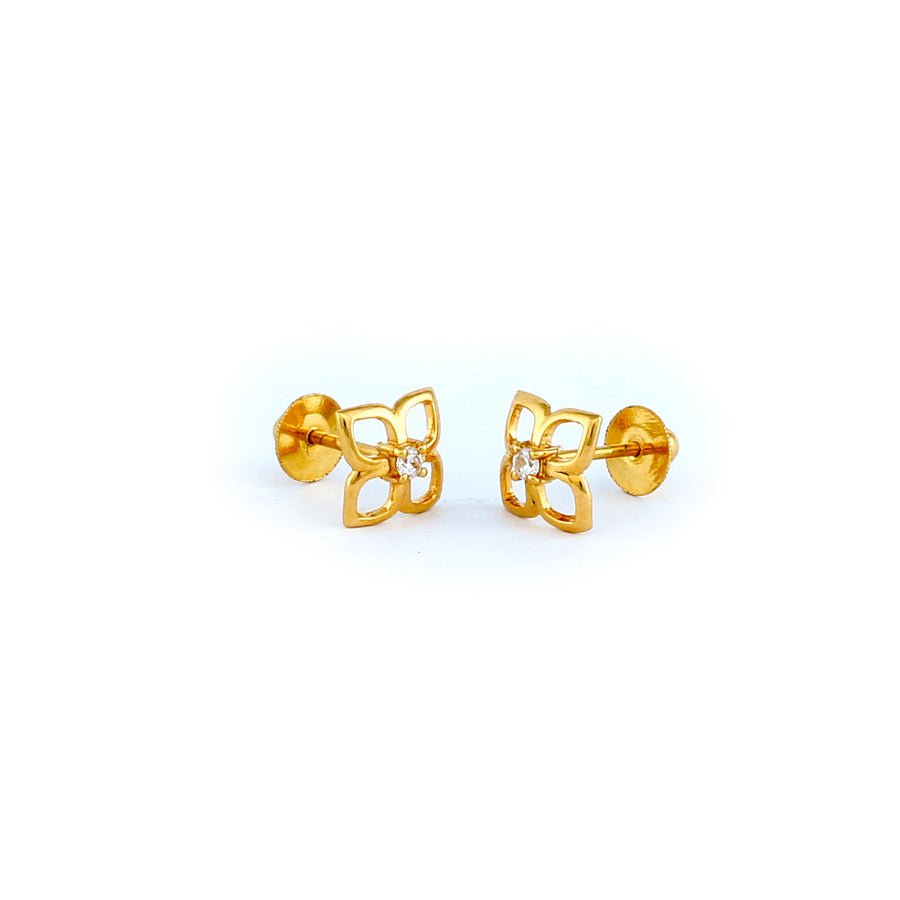 22KT YELLOW GOLD EAR STUD (ES0001070)