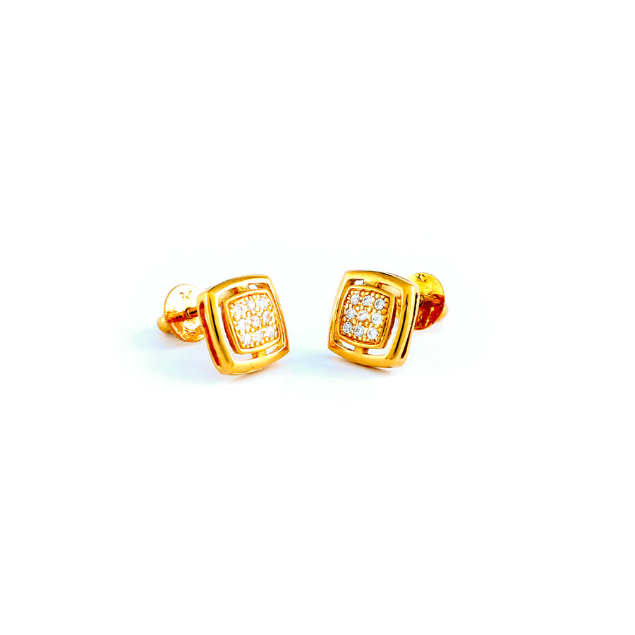 22KT YELLOW GOLD EAR STUD (ES0001176)