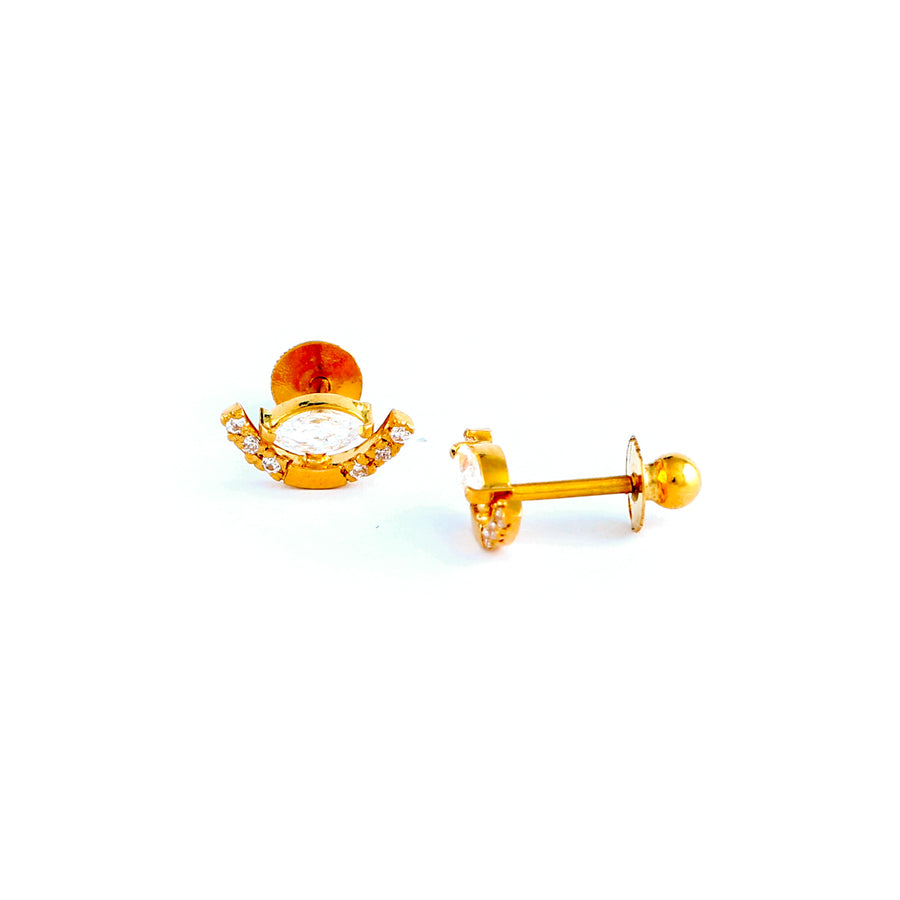 22KT YELLOW GOLD EAR STUD (ES0001182)