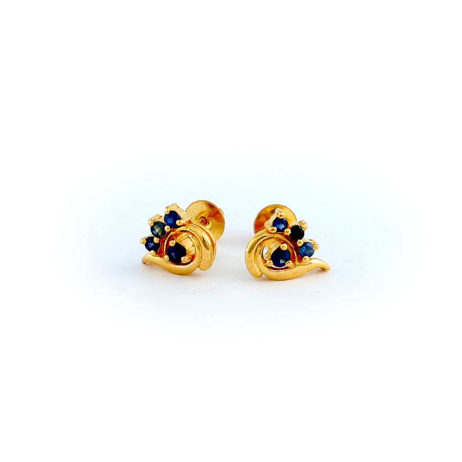 22KT YELLOW GOLD EAR STUD (ES0001103)