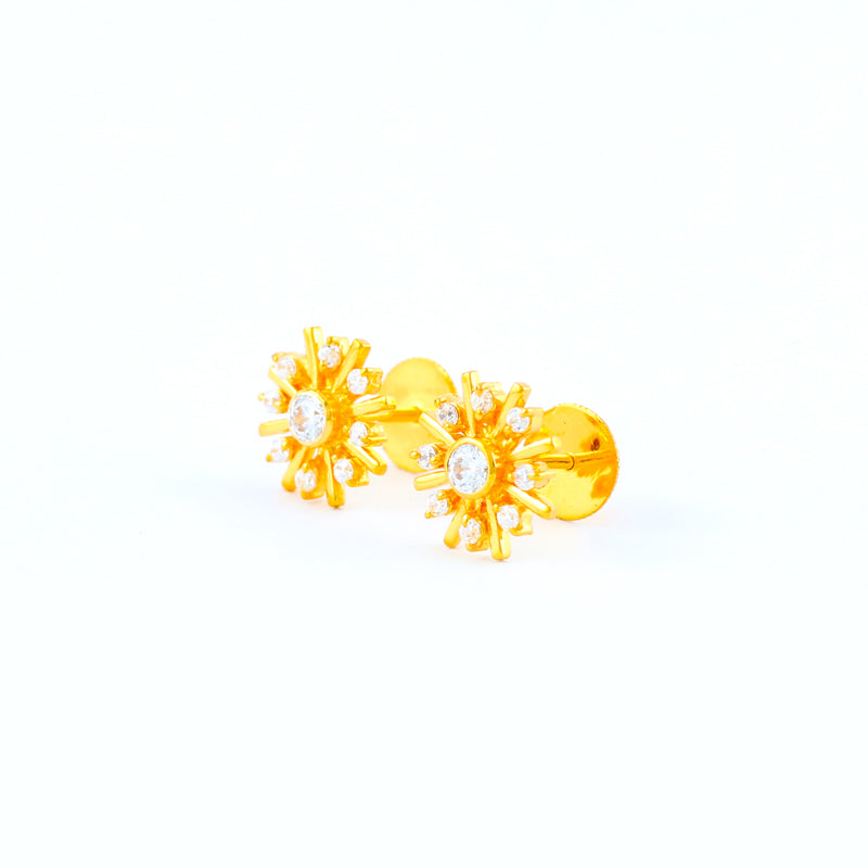 22KT YELLOW GOLD EAR STUD (ES0001119)