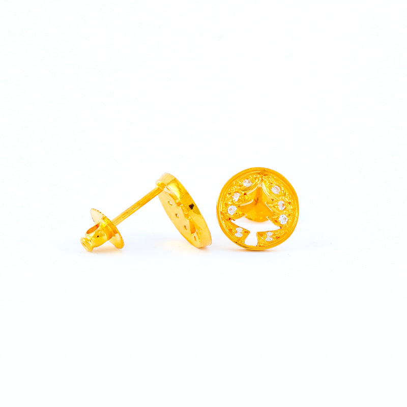 22KT YELLOW GOLD EAR STUD (ES0001123)