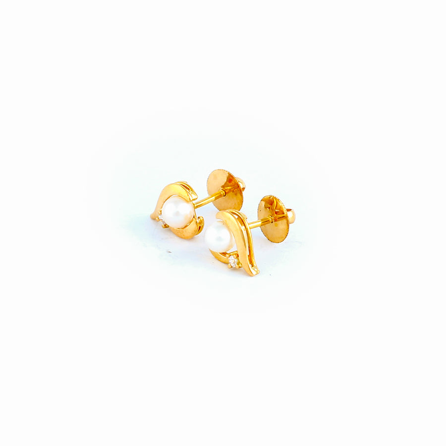 22KT YELLOW GOLD EAR STUD (ES0001143)