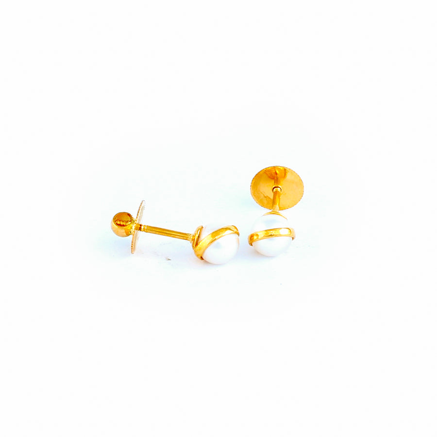 22KT YELLOW GOLD EAR STUD (ES0001172)