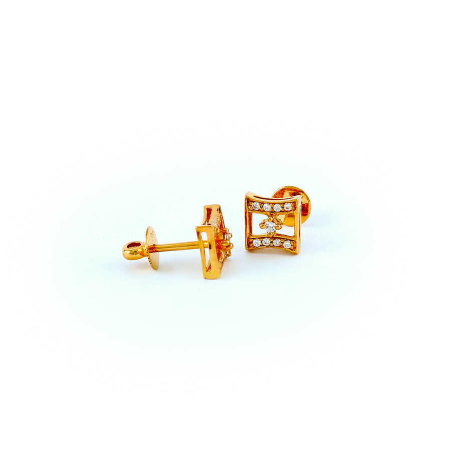 22KT YELLOW GOLD EAR STUD (ES0001177)