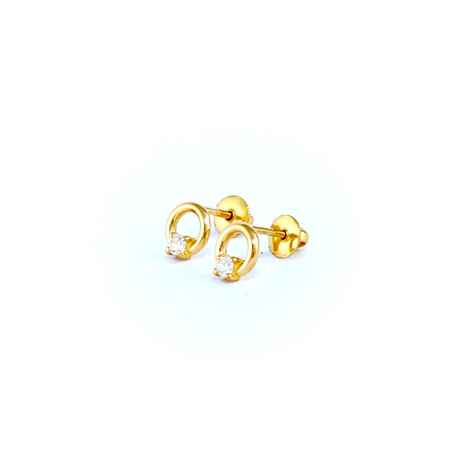 22KT YELLOW GOLD EAR STUD (ES0001190)