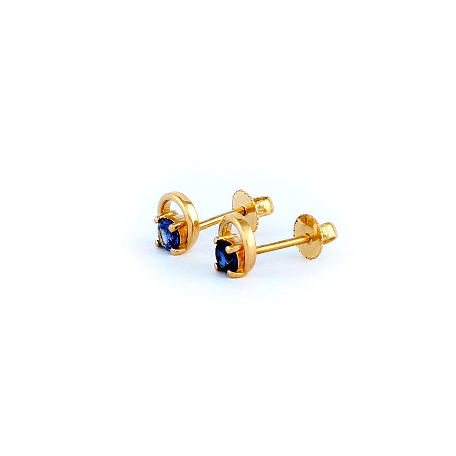22KT YELLOW GOLD EAR STUD (ES0001193)