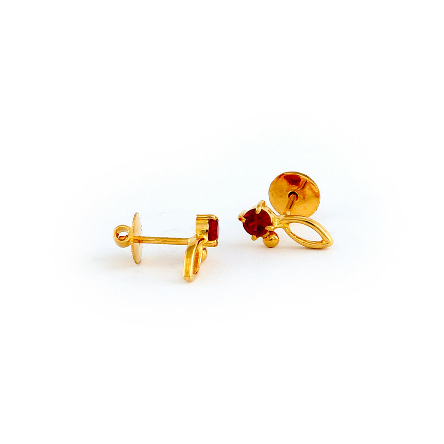 22KT YELLOW GOLD EAR STUD (ES0001195)
