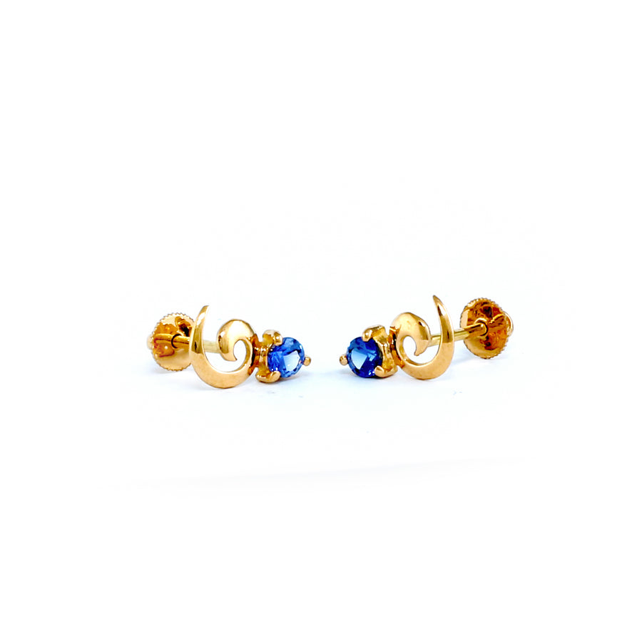 22KT YELLOW GOLD EAR STUD (ES0001196)