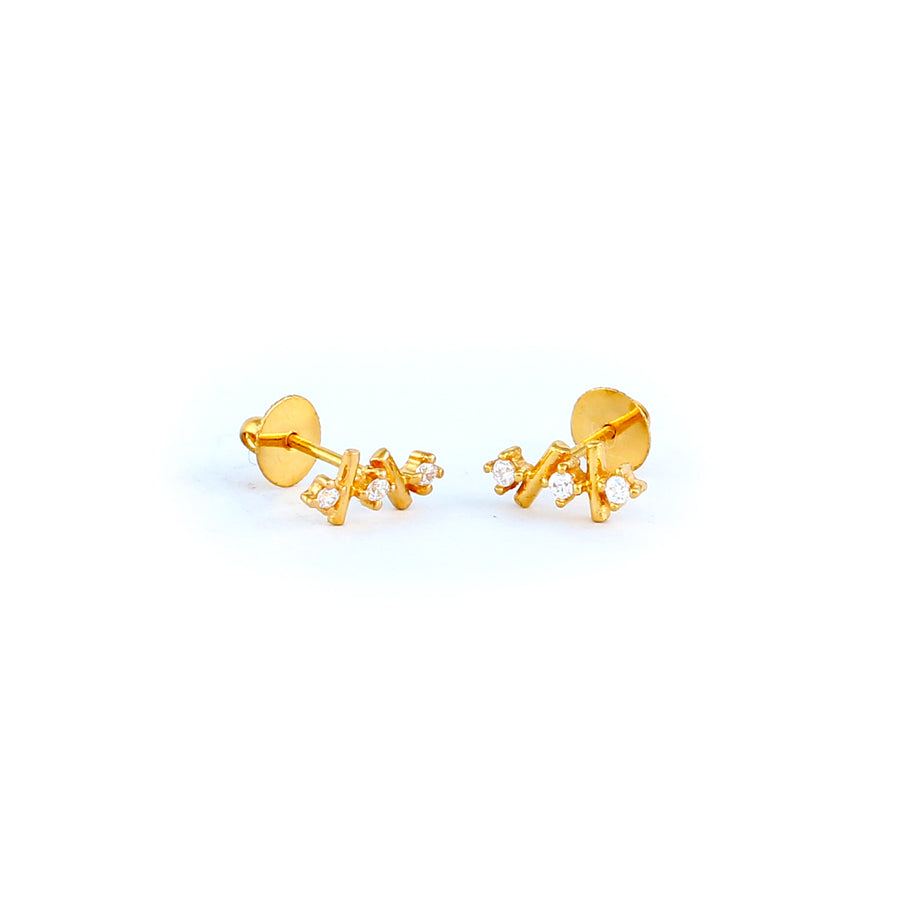 22KT YELLOW GOLD EAR STUD (ES0001197)