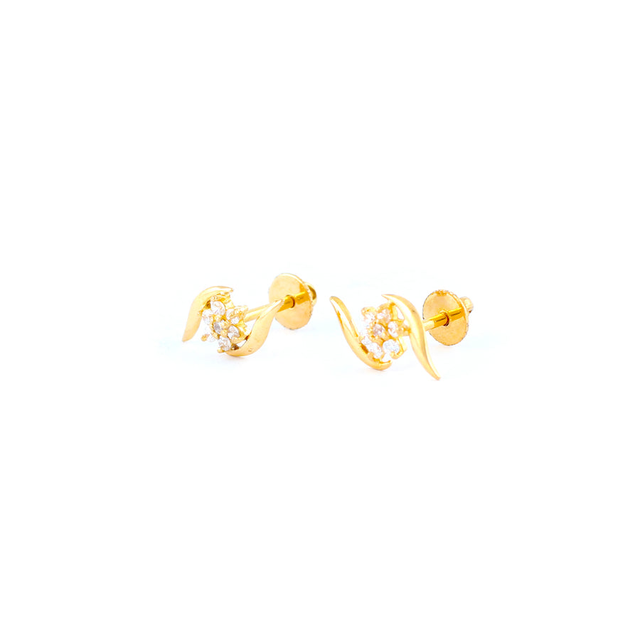 22KT YELLOW GOLD EAR STUD (ES0001201)