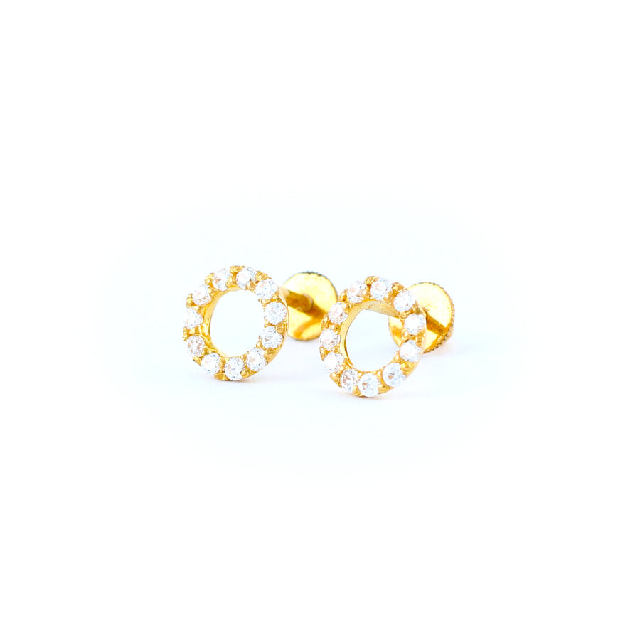 22KT YELLOW GOLD EAR STUD (ES0001204)