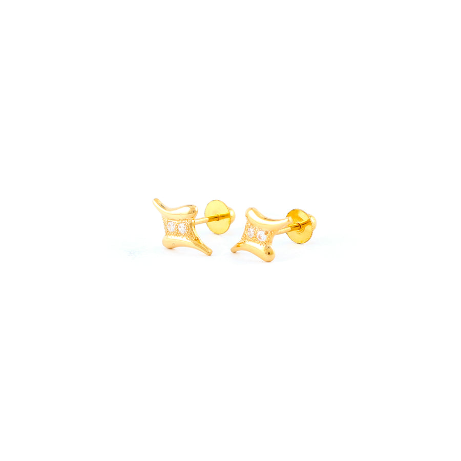 22KT YELLOW GOLD EAR STUD (ES0001210)