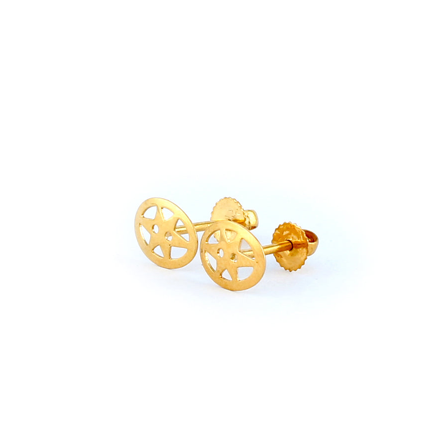 22KT YELLOW GOLD EAR STUD (ES0001266)