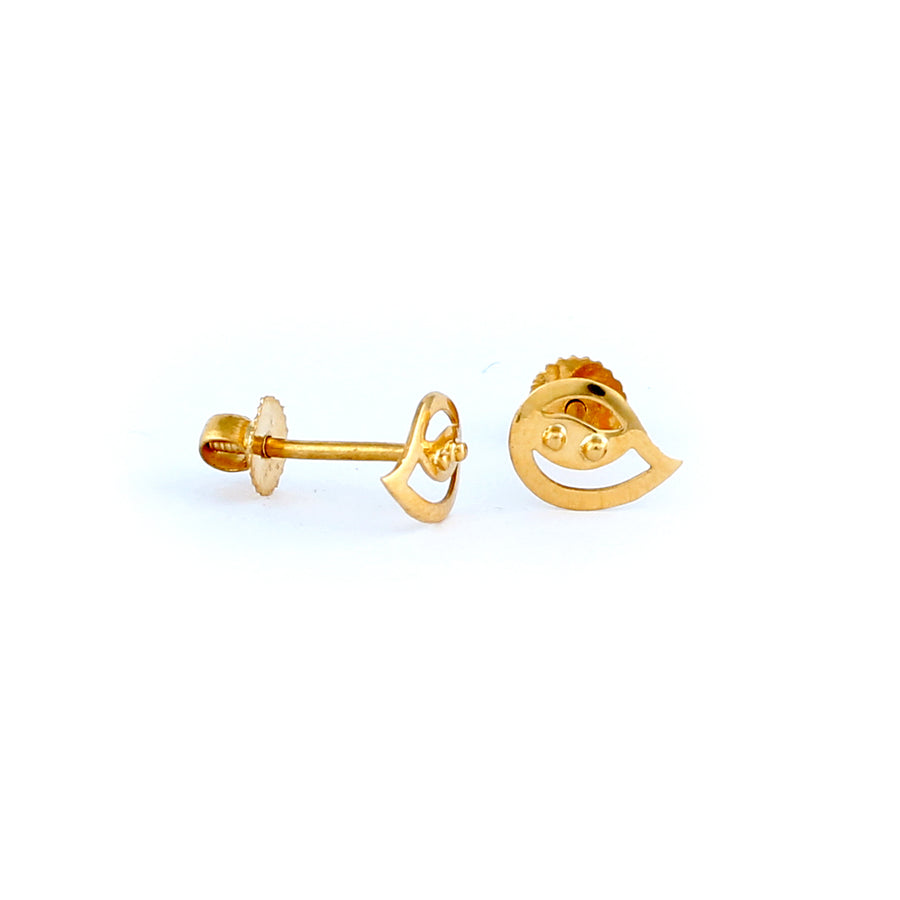 22KT YELLOW GOLD EAR STUD (ES0001268)