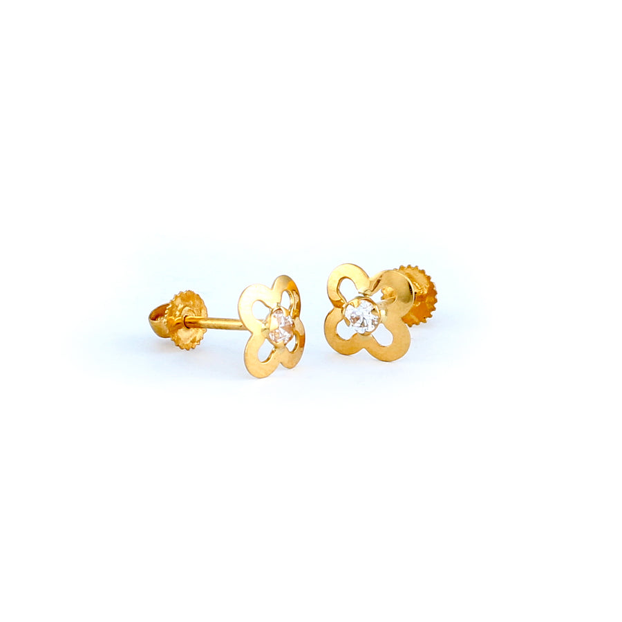 22KT YELLOW GOLD EAR STUD (ES0001270)
