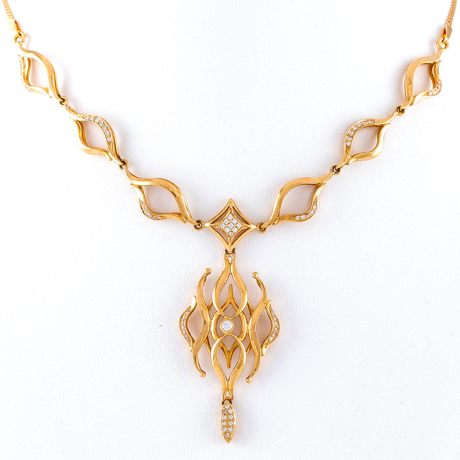 22KT YELLOW GOLD NECKLACE (NE0000523)