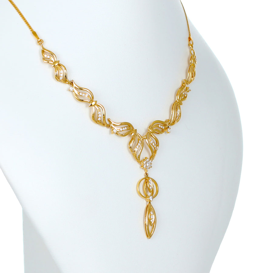 22KT YELLOW GOLD NECKLACE (NE0000779)