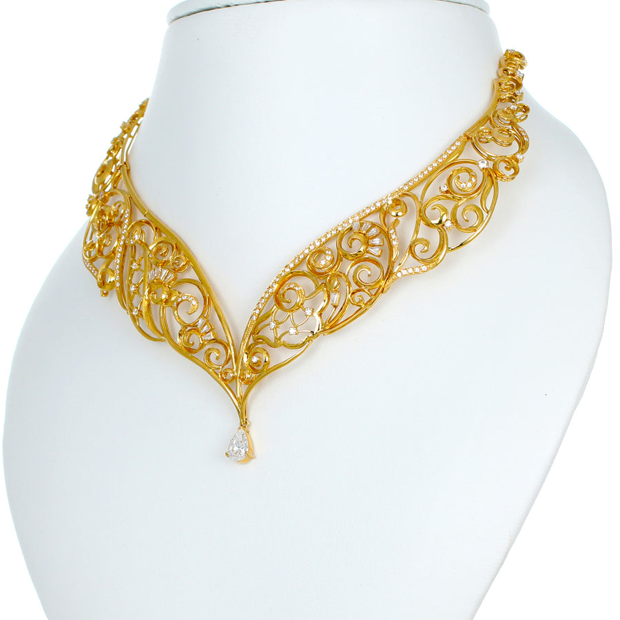22KT YELLOW GOLD NECKLACE (NE0000898)