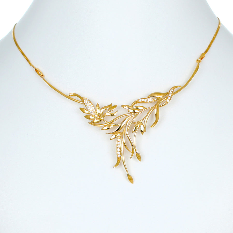 22KT YELLOW GOLD NECKLACE (NE0000974)
