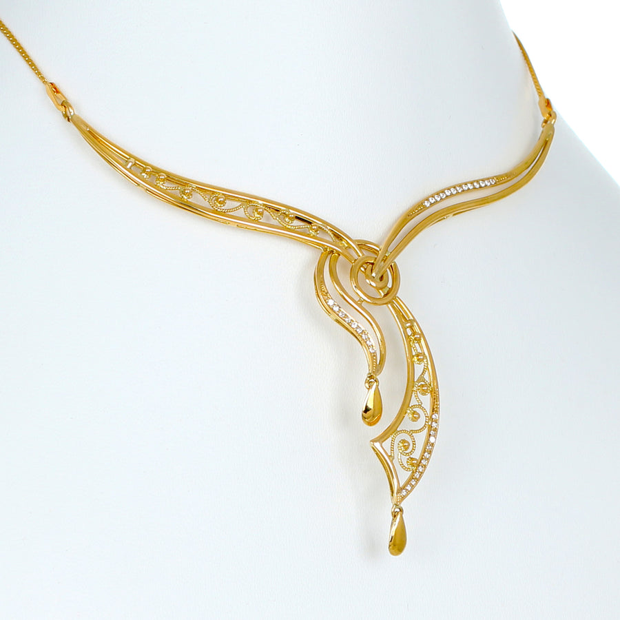 22KT YELLOW GOLD NECKLACE (NE0000997)