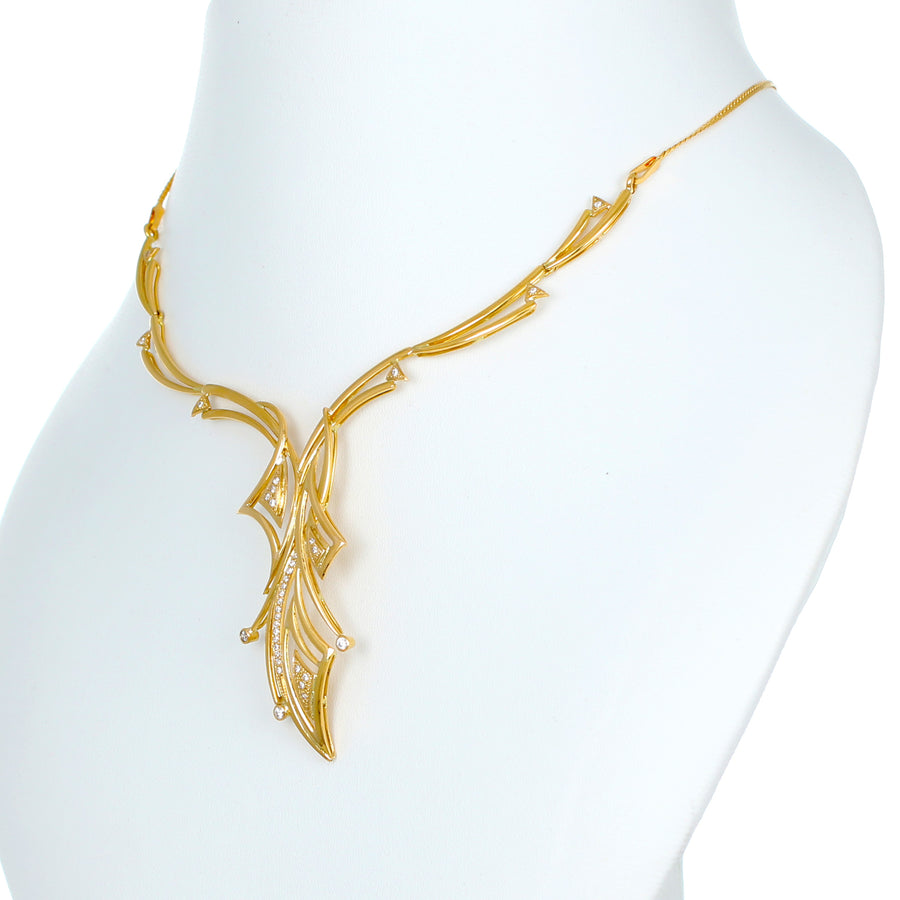 22KT YELLOW GOLD NECKLACE (NE0001041)