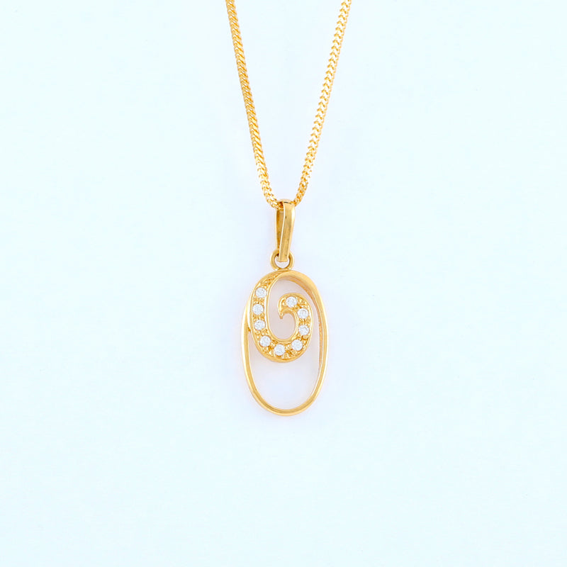 22KT YELLOW GOLD LADIES PENDANT (PE0000065)