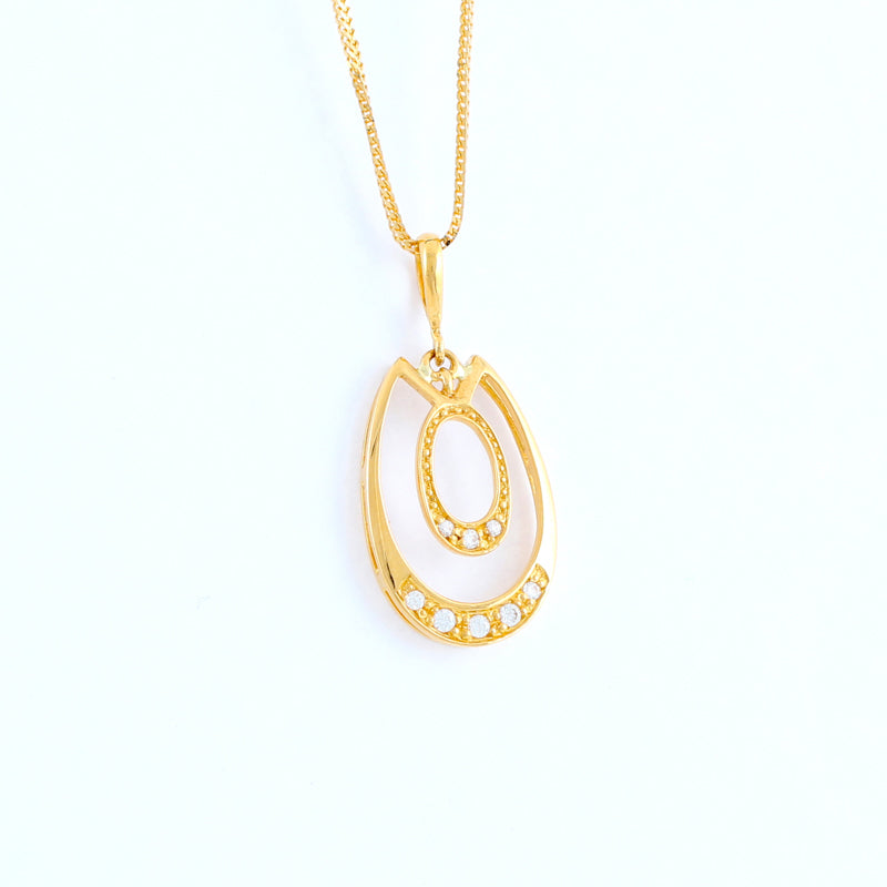 22KT YELLOW GOLD LADIES PENDANT (PE0000152)