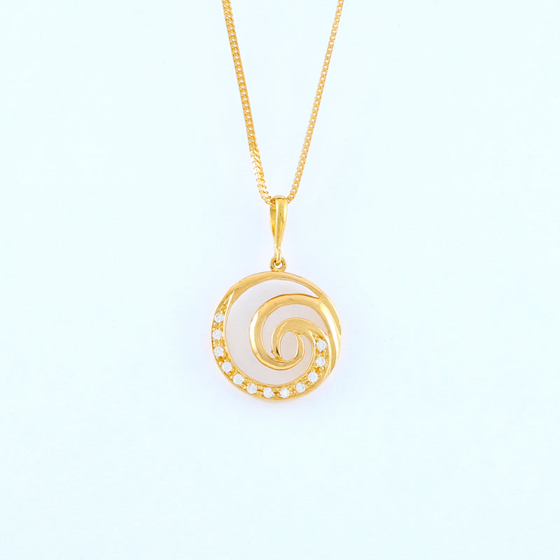 22KT YELLOW GOLD LADIES PENDANT (PE0000496)