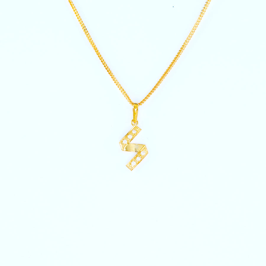 22KT YELLOW GOLD LADIES PENDANT (PE0000580)