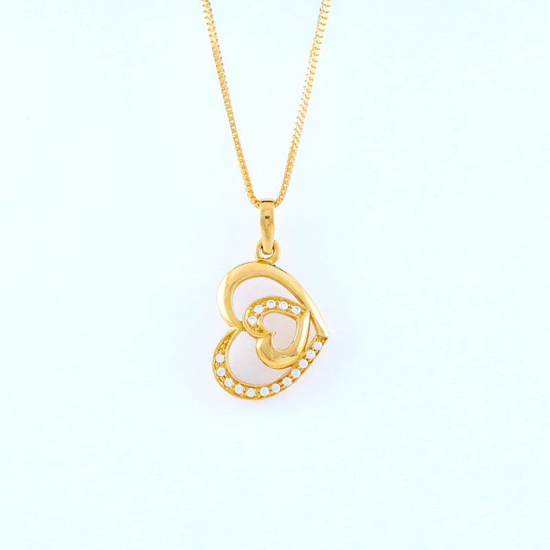 22KT YELLOW GOLD LADIES PENDANT (PE0000766)
