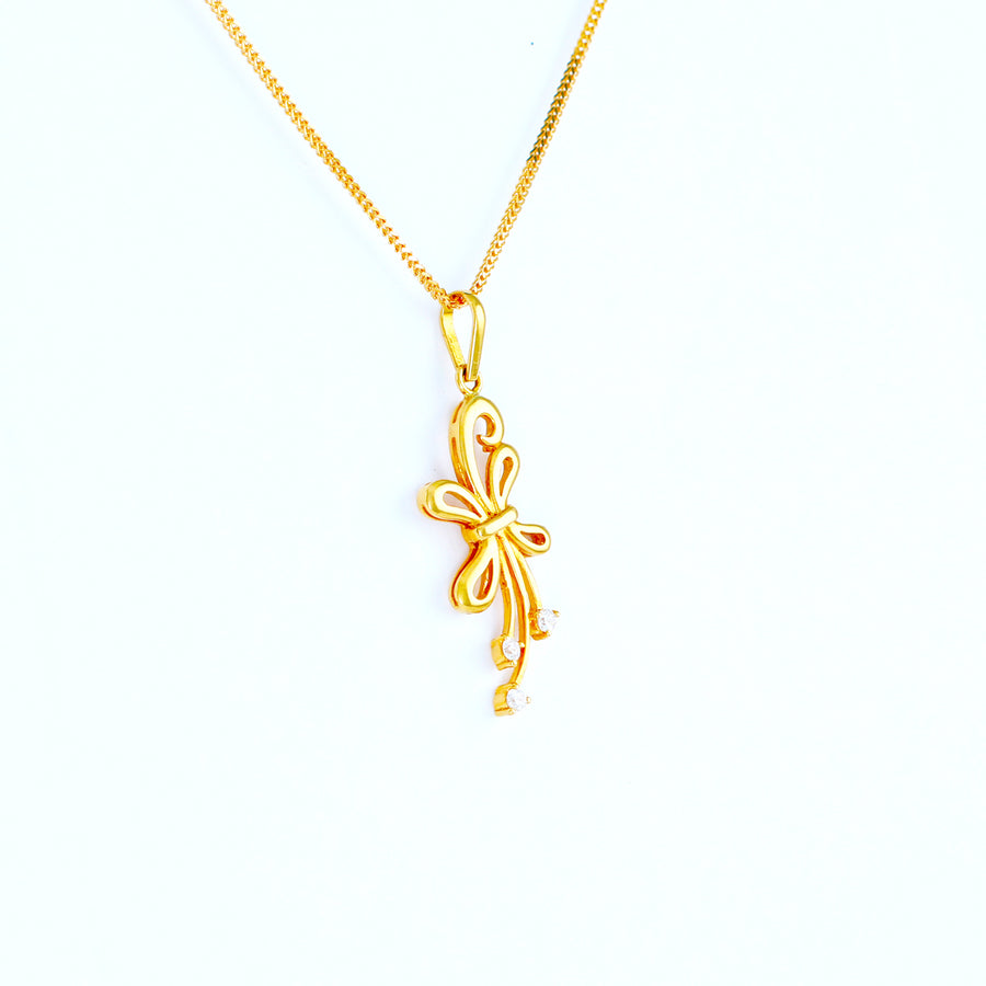 22KT YELLOW GOLD LADIES PENDANT (PE0000784)