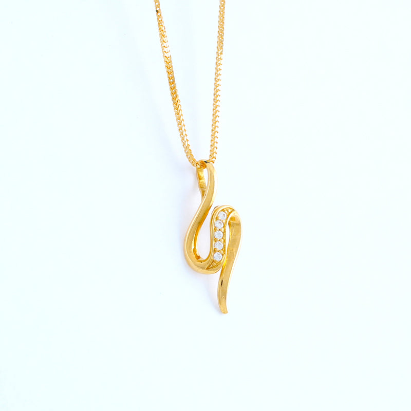 22KT YELLOW GOLD LADIES PENDANT (PE0000900)