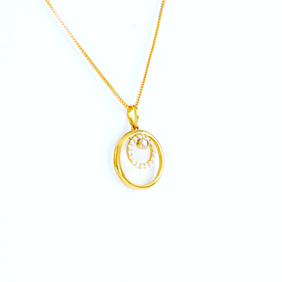 22KT YELLOW GOLD LADIES PENDANT(PE0000945)