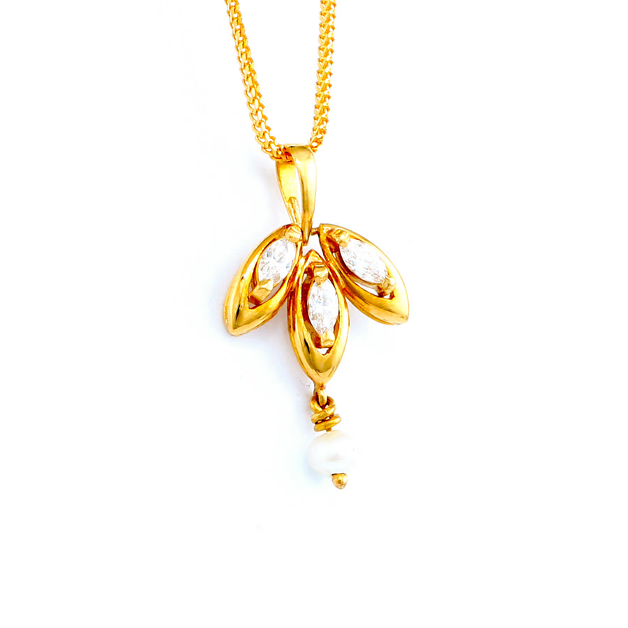 22KT YELLOW GOLD PEARL PENDANT (PE0001116)