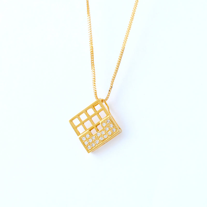 22KT YELLOW GOLD LADIES PENDANT (PE0001365)