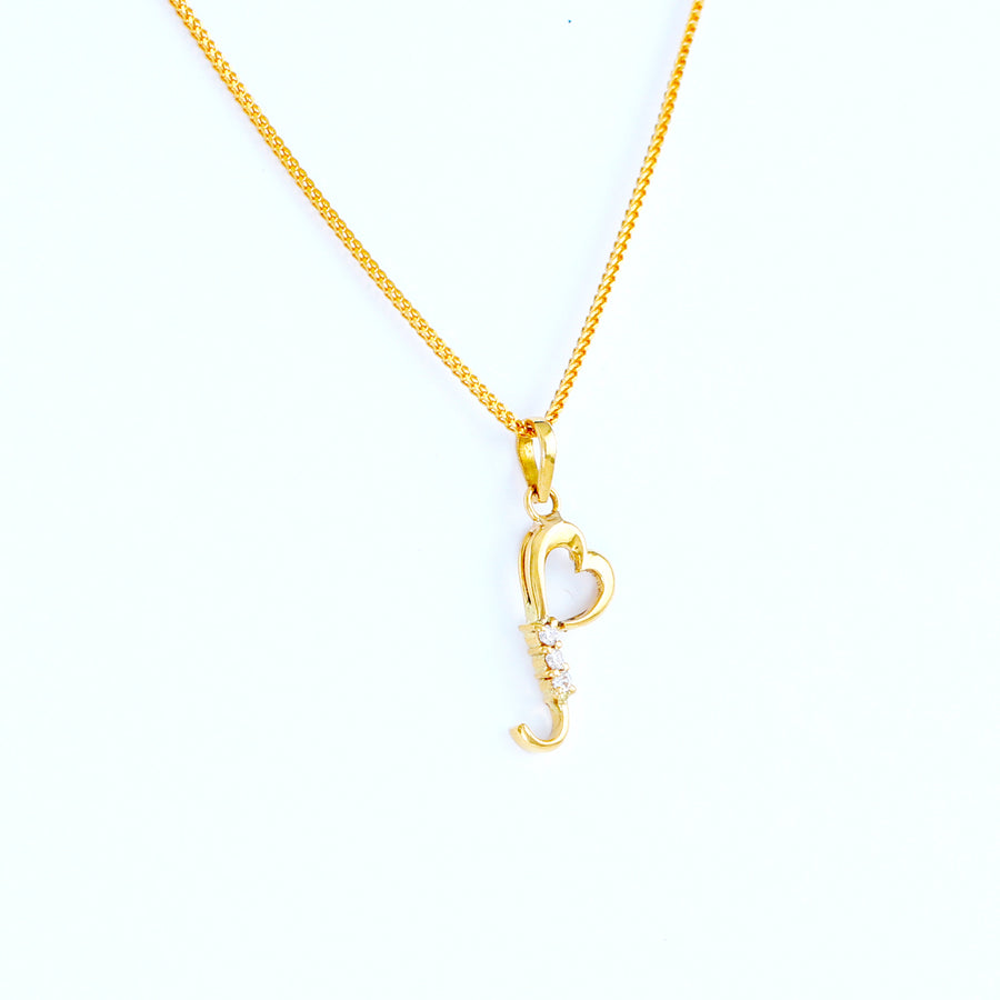 22KT YELLOW GOLD LADIES PENDANT (PE0001444)