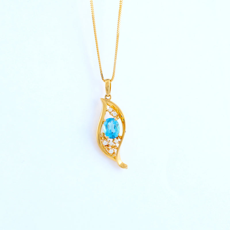 22KT YELLOW GOLD LADIES PENDANT (PE0001585)