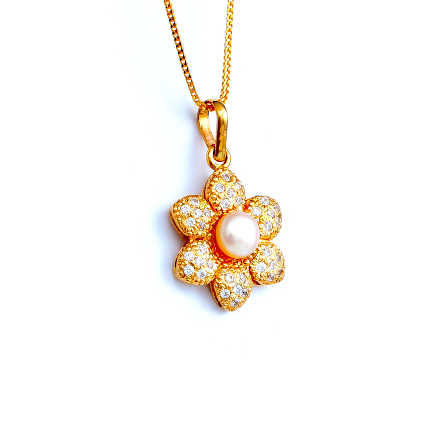 22KT YELLOW GOLD PEARL PENDANT (PE0001647)