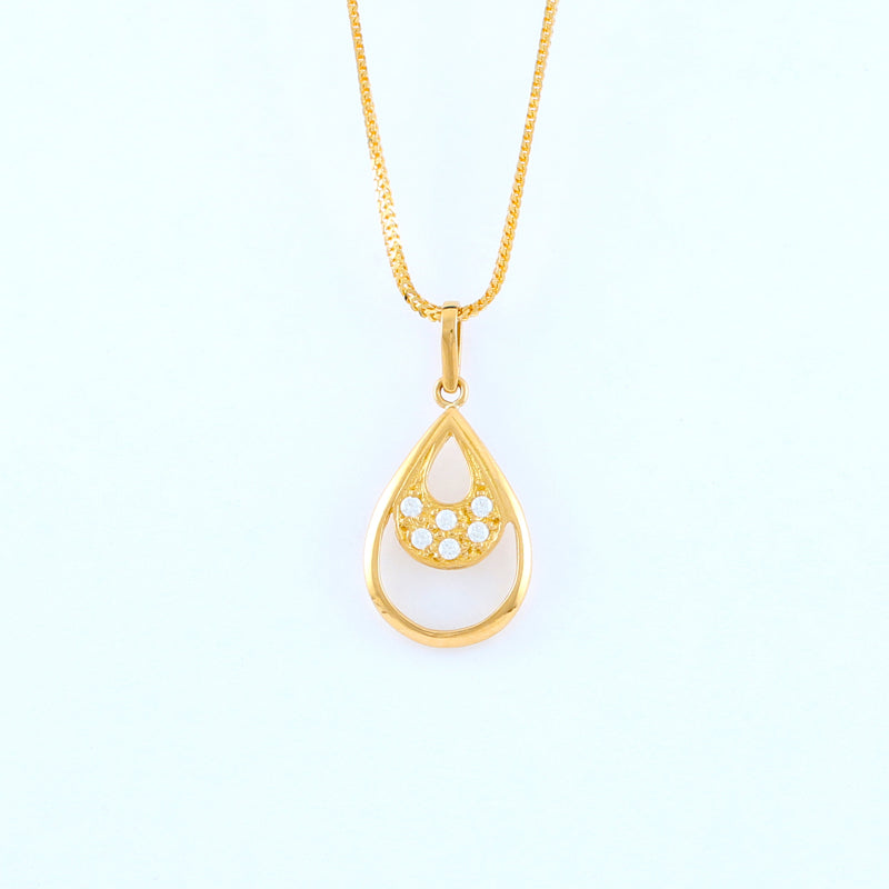22KT YELLOW GOLD LADIES PENDANT (PE0001664)