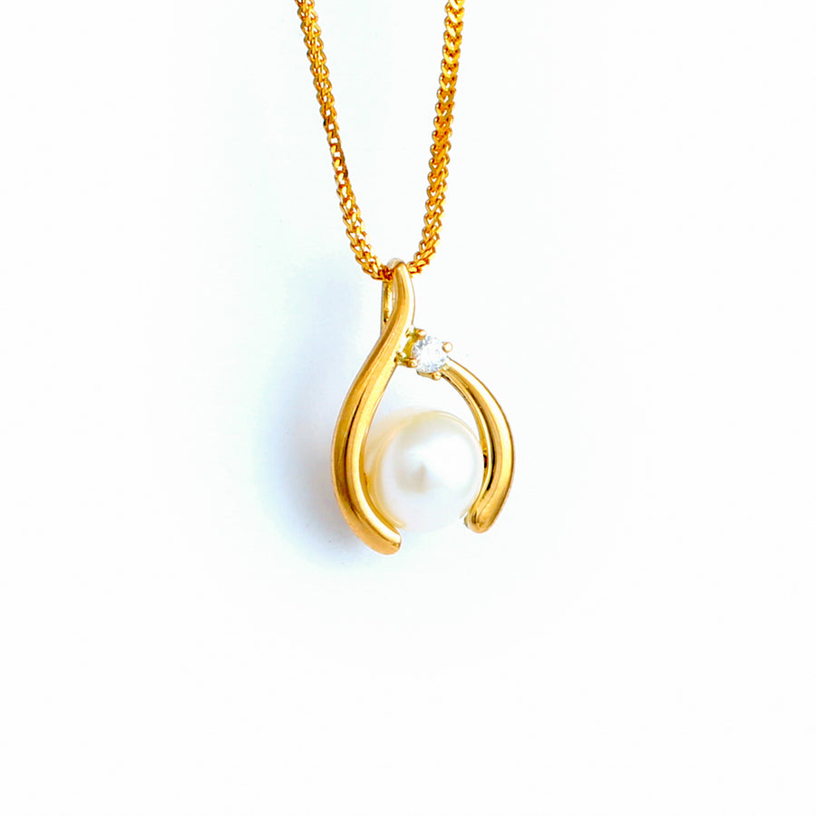 22KT YELLOW GOLD PEARL PENDANT (PE0001673)