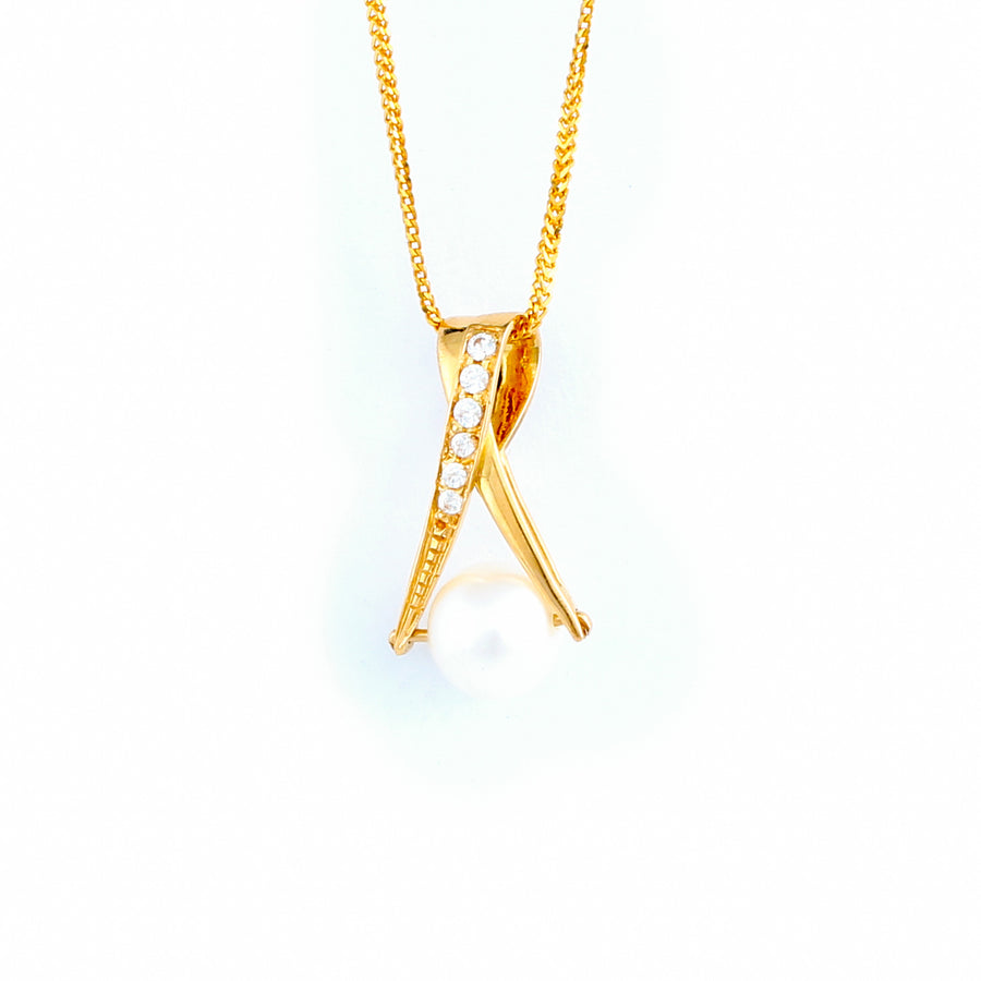 22KT YELLOW GOLD PEARL PENDANT (PE0001700)
