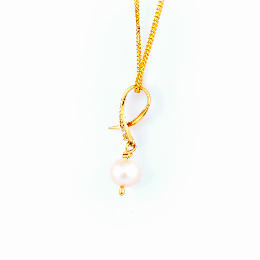 22KT YELLOW GOLD PEARL PENDANT (PE0001701)