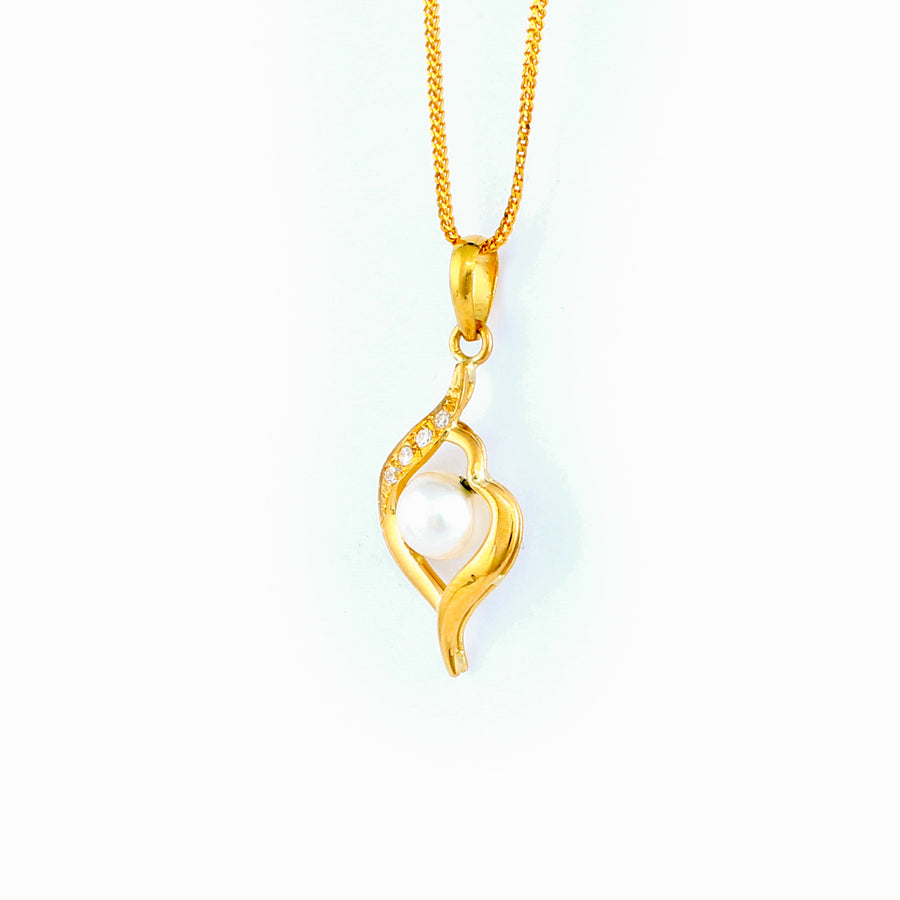 22KT YELLOW GOLD PEARL PENDANT (PE0001703)