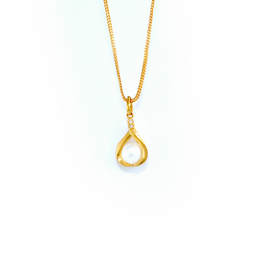 22KT YELLOW GOLD PEARL PENDANT (PE0001704)