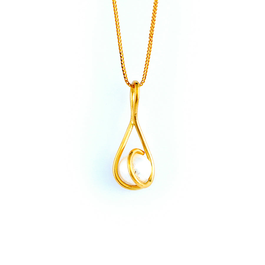 22KT YELLOW GOLD PEARL PENDANT (PE0001739)