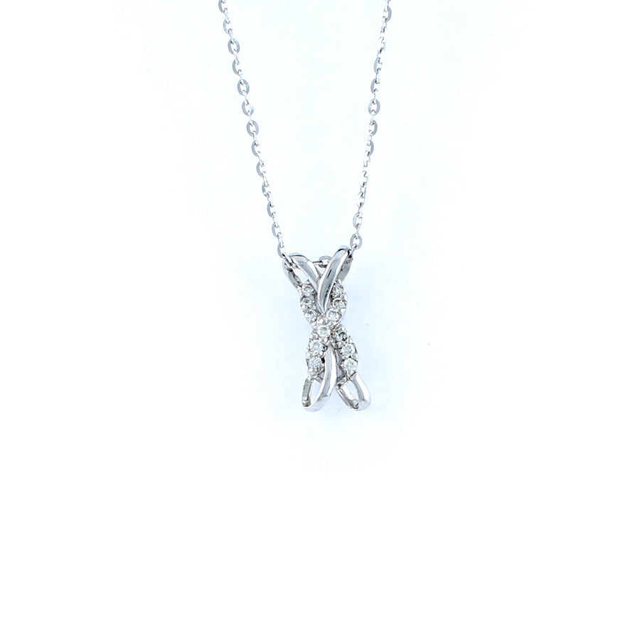 18KT WHITE GOLD DIAMOND PENDANT (PE0001749)