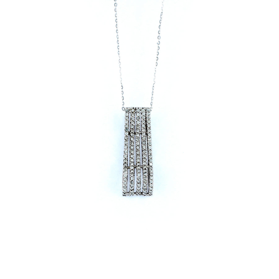 18KT WHITE GOLD DIAMOND PENDANT (PE0001750)