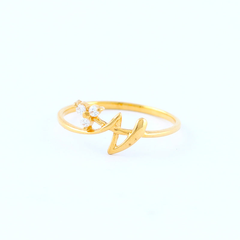 22KT YELLOW GOLD LADIES RING (RI0000107)
